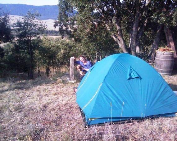 Primera acampada en el terreno