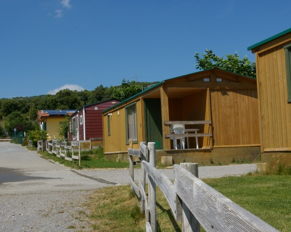 Bungalows madera con porche