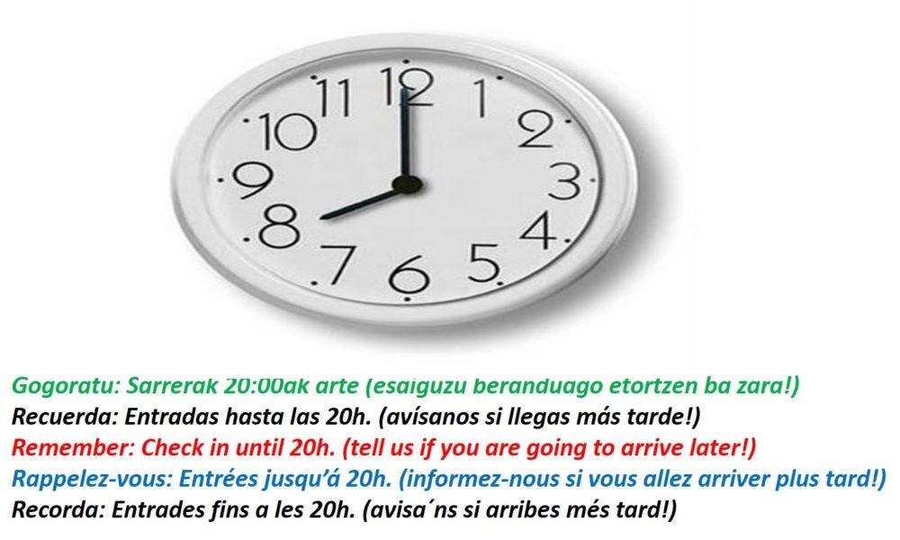 Sarrerak / Entradas / Check in / Entrées / Entrades